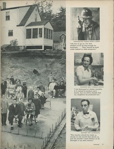 "Life Magazine ""The Drive for Mass Shelters"" Image #3"